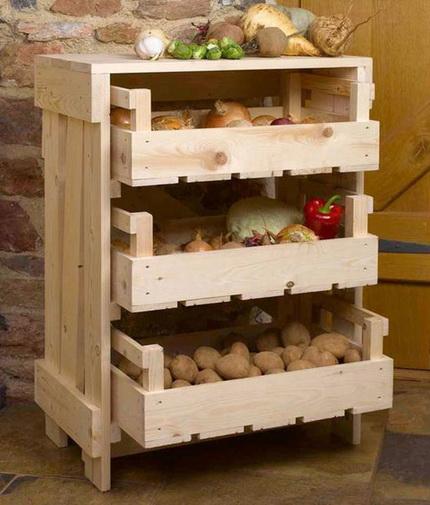 Ящик для хранения овощей на балкон фото