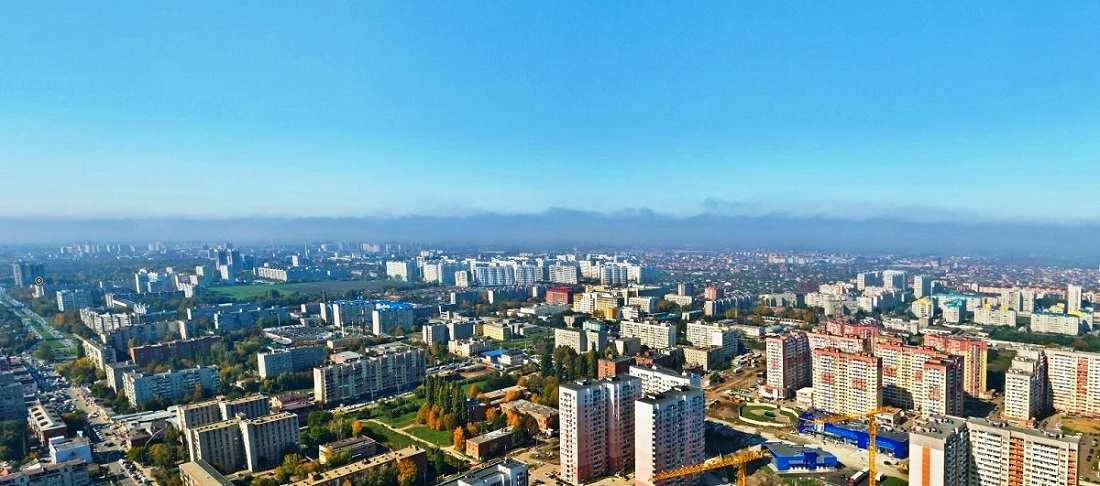 Вид Краснодара