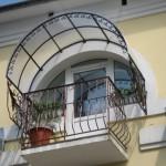 Крыша открытого балкона