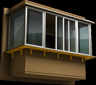 Увеличение балкона в области подоконника