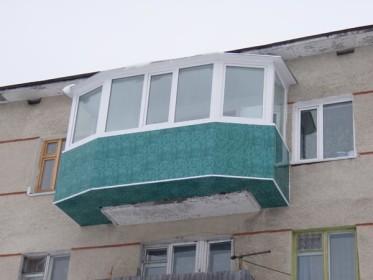 Увеличение балкона за счет выноса