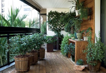 Дизайн балкона с оранжереей