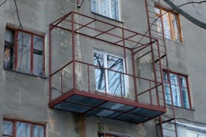 Ремонт основания с установкой каркаса на балкон