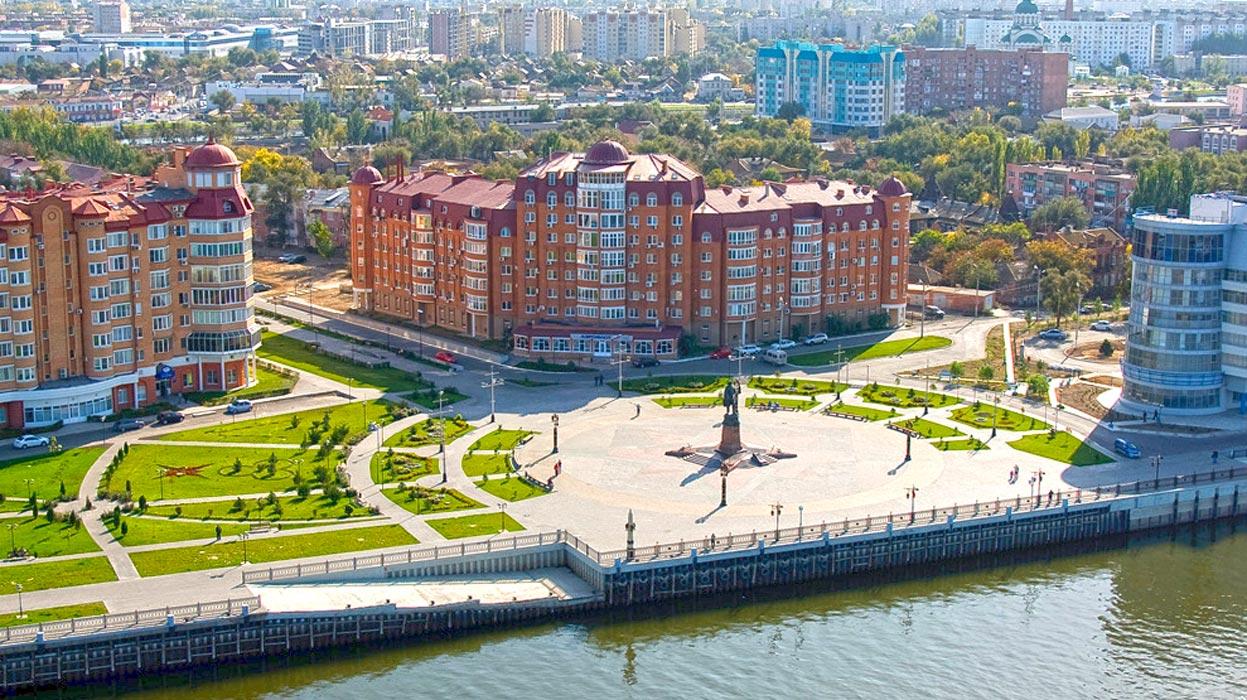 Панорама Астрахани