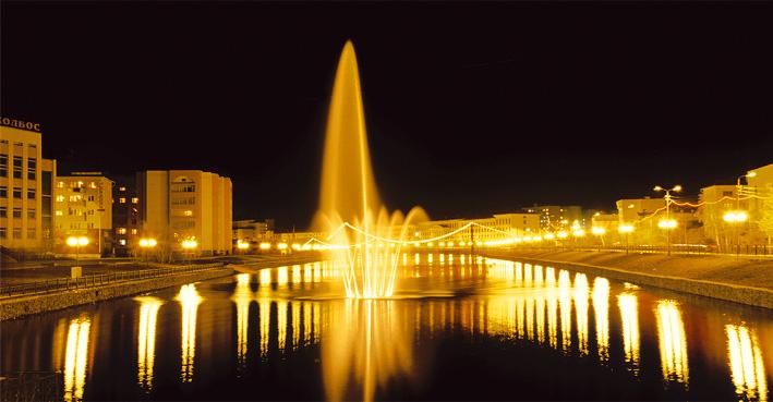 Виды ночного Якутска