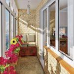 Как отделать балкон декоративным камнем