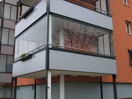 Внешний вид балкона утепленного снаружи