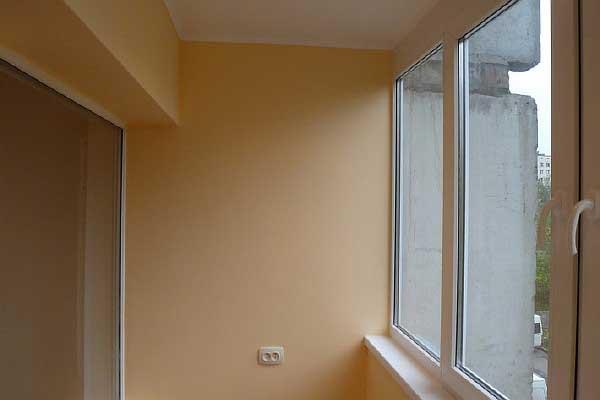 Отделка балкона гипсокартоном