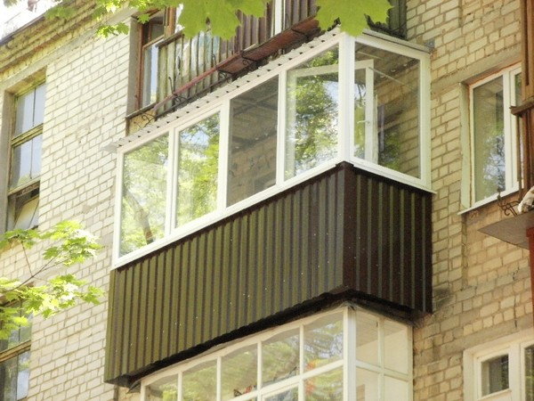 Балкон из металлопрофиля своими руками видео