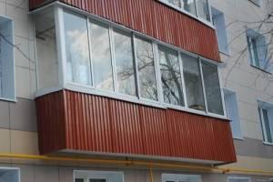 Наружная отделка балкона профнастилом самостоятельно