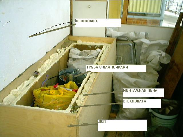 Материалы из которых состоит погреб для балкона