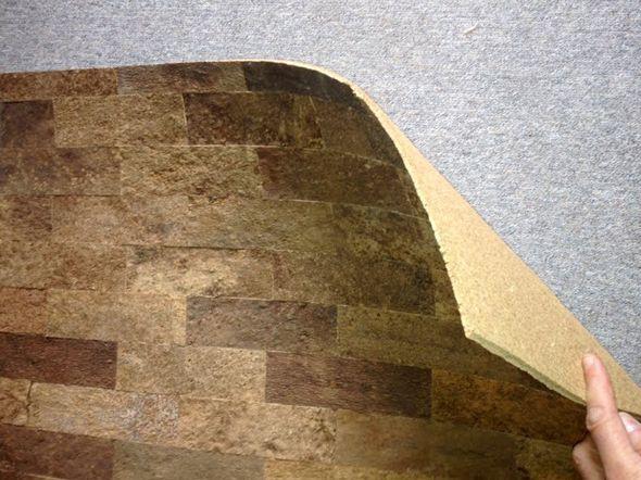 Покрытие стен пробковыми обоями