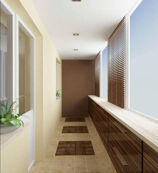 Дизайн лоджии площадью 6 квадратных метров.