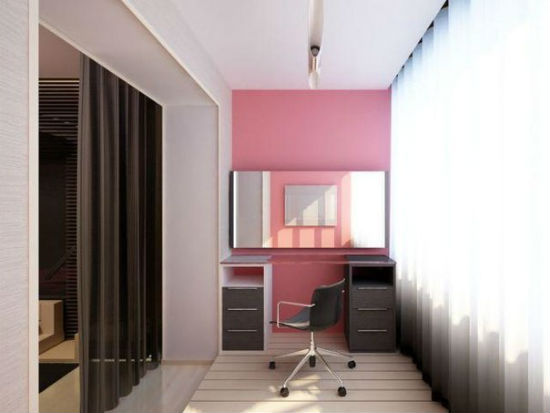 Дизайн лоджии 6 метров совмещенной с комнатой фото