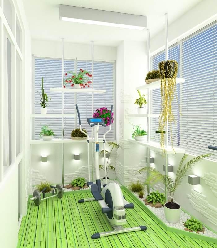 Дизайн лоджии площадью 8 квадратных метров.