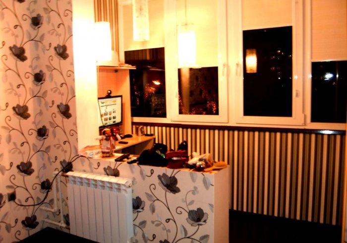 Интерьер лоджии 3 метра совмещенной с кухней фото