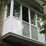 Внешний вид французского балкона в хрущевке