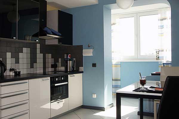 Фото балкона присоединенного к кухне
