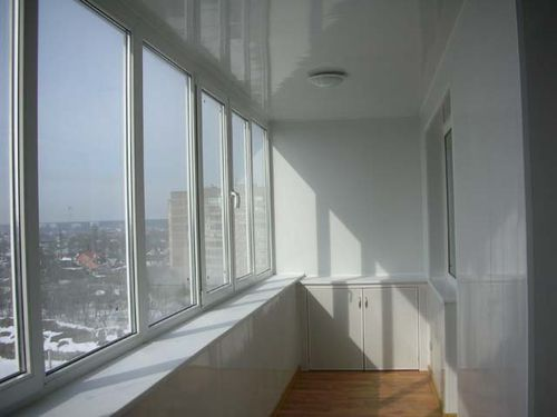 Теплое остекление балкона п44т