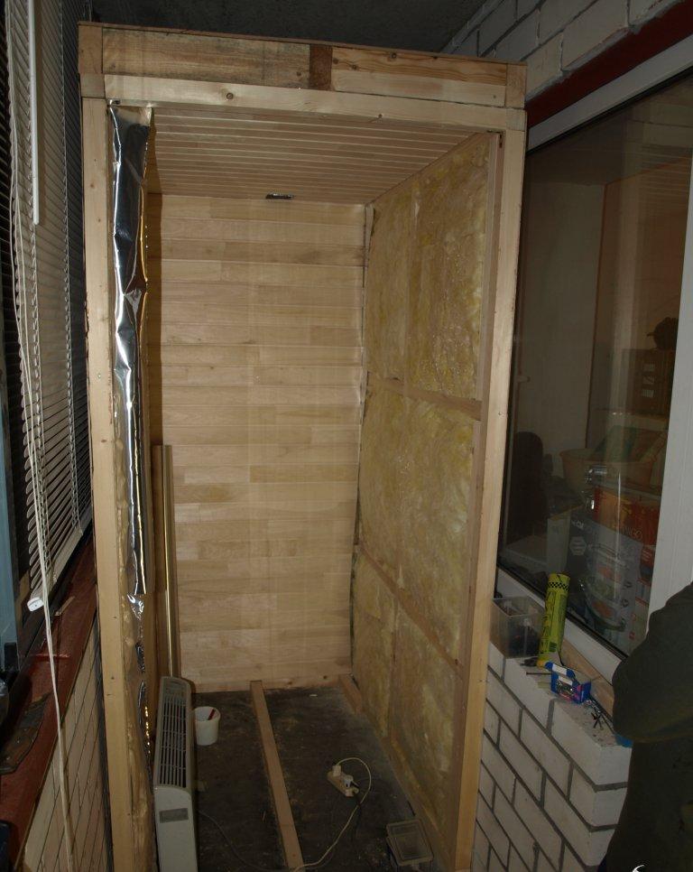 Подготовка к постройке сауны на лоджии