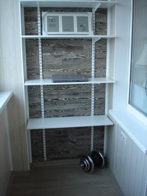 Пластиковый стеллаж для балкона