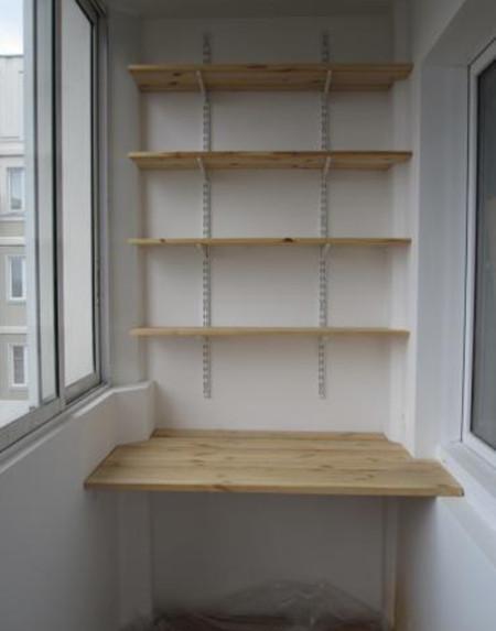 Фото самодельных полок для балкона