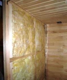 Фото термоизоляции стен сауны