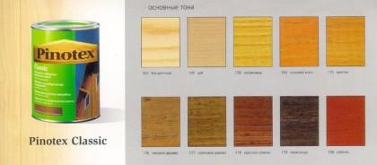 Цветовая гамма грунтовок Пинотекс