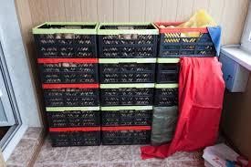 Хранение картофеля в ящиках