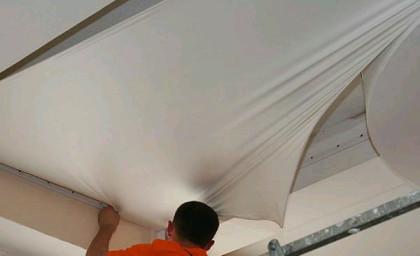 Натяжной потолок до установки