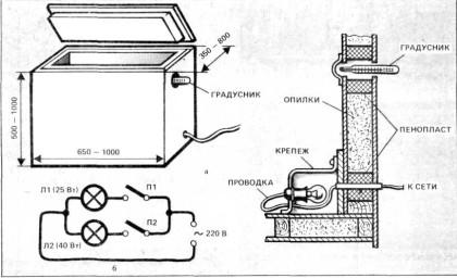 Электрическая схема погребка