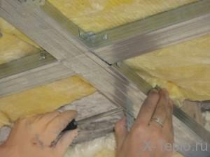 Минеральная вата для потолка