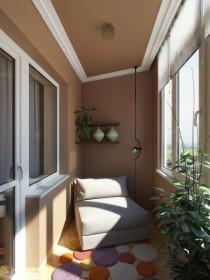 Обустройство небольшой спальни на балконе