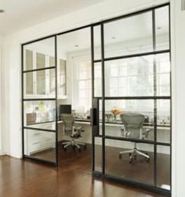 Параллельно скользящие раздвижные стеклянные двери на балкон