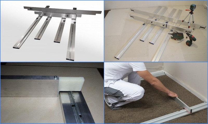 инструмент для устройства сухой стяжки